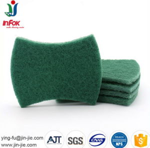 Household Cleaning Abrasive Bow-Tie Shape Scouring Pad pictures & photos