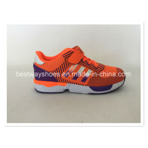 Children Shoes Running Shoe Comfortable Shoe with Flyknit pictures & photos