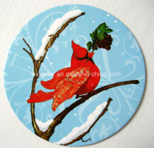 Round Winter Bird Paper Coaster (CB11) pictures & photos