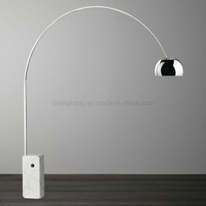 Fishing Standing Light Marble Stainsteel Arc Floor Lamp for Living Room pictures & photos