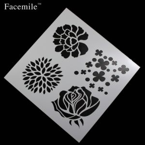 Cake Stencil Flowers Shape Spray Mold Cake Baking Mold Icing Template Strew Pad Duster Spray Printing Decorating Tool pictures & photos