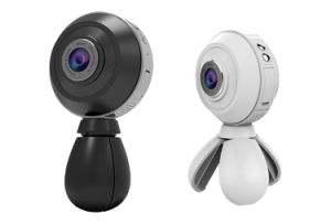 Dual 360 Sport Camera Poratble 3D VR Video Panorama Camera Action 360 Degree Wireless Camera pictures & photos