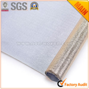 Metalic Film Golden Laminated Fabrics pictures & photos