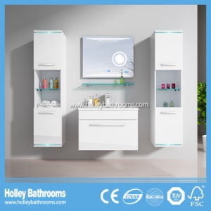 Selling Europe Magnifier New LED Light Touch Switch High-Gloss Paint MDF Furniture Bathroom Cabinet-D8066f pictures & photos