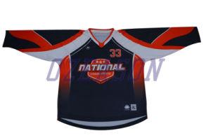 Design Custom Made Goalie Cut Sublimated Hockey Jerseys (H008) pictures & photos