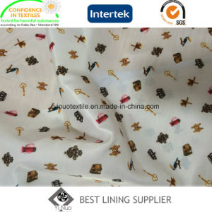 Lady′s Garment Print Liner Lining Fabric China Supplier pictures & photos