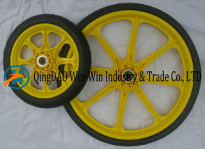 20 Inch Solid Polyurethane Garden Cart Wheel pictures & photos