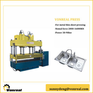Hydraulic 4 Post Press for Stainless Steel Tank Drawing pictures & photos