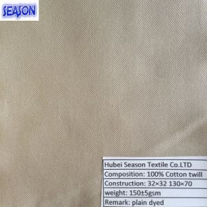Cotton 32*32 130*70 160GSM Dyed Twill Woven Cotton Fabric Textile pictures & photos