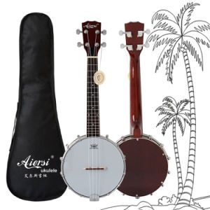 Chinese Concert Banjo Ukulele with Remo Skin for Sale pictures & photos