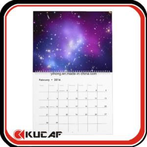 Custom Metal Spiral Hot Selling Cheap School A2 Wall Calendar pictures & photos