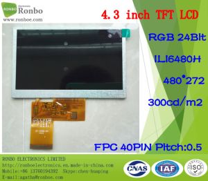 "4.3"" 480X272 RGB 40pin IC: Ili6480h Luminance: 300 TFT LCD Display pictures & photos"