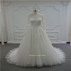 A Line Long Sleeve Elegant Wedding Dress pictures & photos