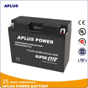 Factory Activated Maintenance Free Lead Acid Batteries Ytx24hl-BS 12V 21ah pictures & photos