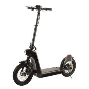 Smartek Smart Fashion Folding E-Bike- 14 Inch Wheel Size with LED Light Standing Smart Electric Scooter Patinete Electrico S-005-2 pictures & photos