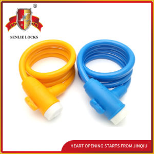 Jq8227-Jq Colorful Bicycle Lock Motorcycle Spiral Cable Lock pictures & photos