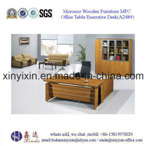 Foshan Factory Wooden Furniture Melamine Executive Office Desk (BF-002#) pictures & photos