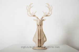 Hotel Decoration Plywood DIY Assemble Deer Head Arts and Crafts pictures & photos