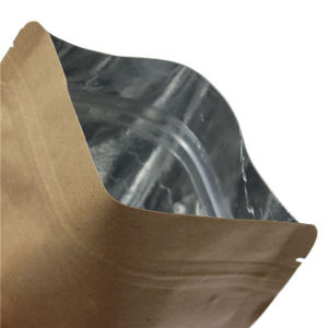 Aluminium Kraft Paper Standing Ziplock Food Packaging Bags pictures & photos