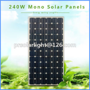 240W High Efficiency Mono Renewable Energy Saving Solar  Products pictures & photos