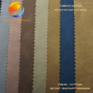 High Quality PU Leather of Yumbuck for Shoe Flf17f27 pictures & photos