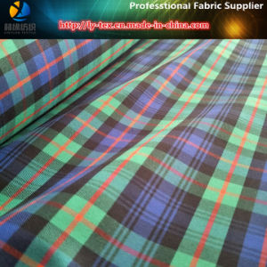 Polyester Twill Yarn Dyed Check Spandex/Elastic Shirting Fabric for Garment/Trousers (YD1114) pictures & photos