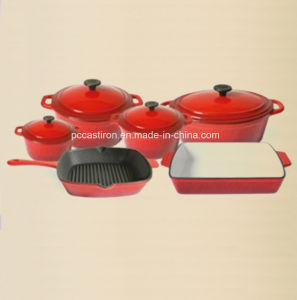 6PCS Enamel Cast Iron Cookware Set for Kitchen pictures & photos