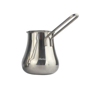 Long Handle Stainless Steel Milk Pitcher pictures & photos