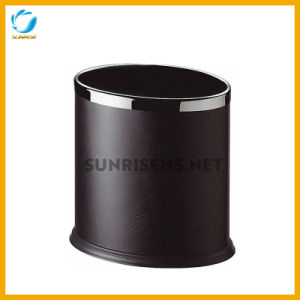 Hotel Leatherette Indoor Wastepaper Bin pictures & photos
