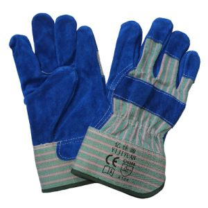 CE EN388 Cowhide Split Leather Cut Resistant Hand Protection Working Gloves pictures & photos