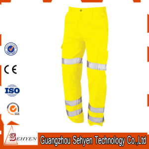 Custom Yellow High Visibility Trousers Reflective Work Safety Pants pictures & photos