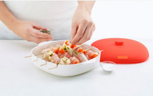 Food Grade Plastic Silicone Microwave Brochette Box pictures & photos