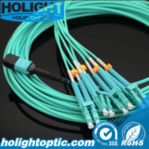 Fiber Optic Patch Cord MPO to LC Om3 pictures & photos