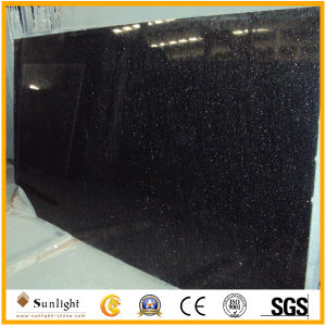 Polished Black Galaxy Granite Paving/Kitchen Countertop Slabs pictures & photos