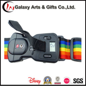 Durable Digital Luggage Sacle Weighing Adjustable Rainbow Polyester Tsa Luggage Strap pictures & photos
