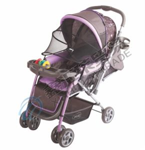 Baby Stroller with Second Lock and Seat Pad