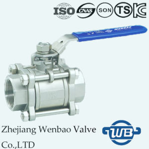 3PC Stainless Steel Full Port Female Thread Ball Valve CF8m 1000 Wog pictures & photos