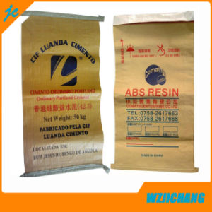 Kraft Paper Laminaten PP Woven Bag Valve Bag Design pictures & photos