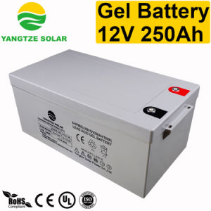 250ah 12V Rechargeable Gel Deep Cycle Battery pictures & photos