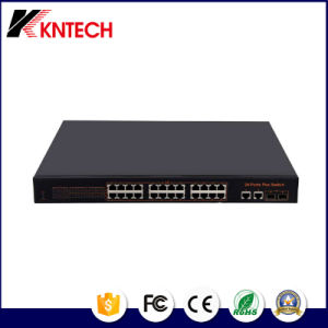 IP Pabx Integrate Kntech 24 Port 10100Mbps Poe Switch Knps-24-a pictures & photos