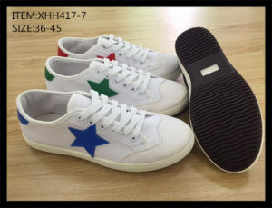 Latest Design Injection Canvas Shoes Leisure Shoes School Shoes (XHH417-8) pictures & photos