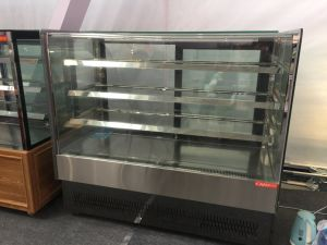 Square Glass Cake Display Showcase Cabinet Cooler for Dessert pictures & photos