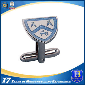 Epoxy Coating Sliver Cufflink for Souvenir pictures & photos