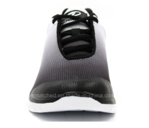 Breathable Gradient Black Air Sports Men Running Shoes pictures & photos