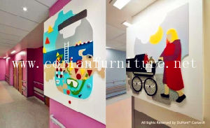 Interior Decoration Corian Wall with Pattern pictures & photos