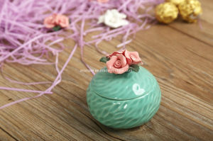 Round Colored Flower Ceramic Jewelry Box (CC-17) pictures & photos
