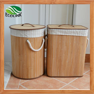 Bamboo Laundry Bin / Dirty Clothes Basket pictures & photos