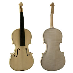 High Grade Nice Flame Maple Unfinished Solid White Violin pictures & photos