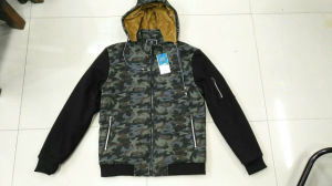 Stock Garments, Man′s Winter Hoodie, Camouflage Hoodie pictures & photos