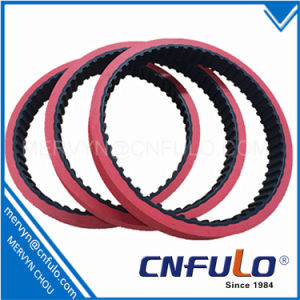 Coated Timing Belt, Red Rubber Timing Belt, T5*2280 pictures & photos